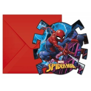Cartes d'invitation - Spiderman - lot de 6
