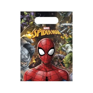 Sacs en plastique - Spiderman - lot de 6