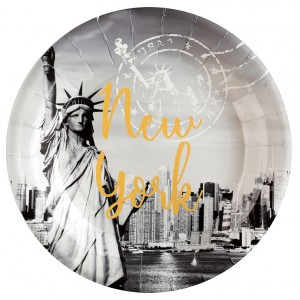 Assiettes - New York - lot de 10