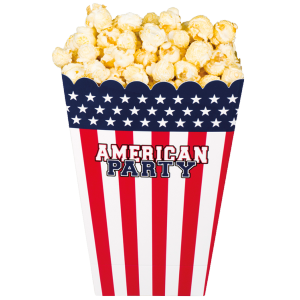 Pots Pop corn American Party (lot de 4)