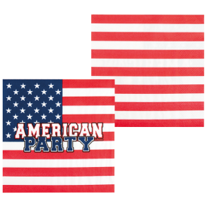 Serviettes American Party (lot de 12)